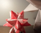 Beautiful small Origami Star - Red and White