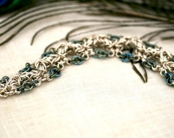Selene - Sterling Silver and Niobium Bracelet