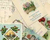 Lot of 7 Seven Vintage Postcards-- Beautiful Graphics and lovely Handwriting