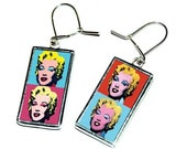 Marilyn Monroe popart - beautiful handmade earrings