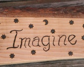 INSPIRATIONAL WORD SIGN, Primitive Rustic Home Decor