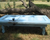 Re-Purposed door coffee table patio furniture