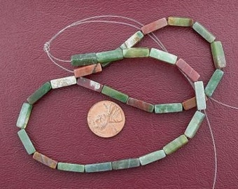 13x4 rectangle gemstone fancy jasper beads