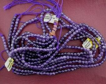 5mm round amethyst bead strand