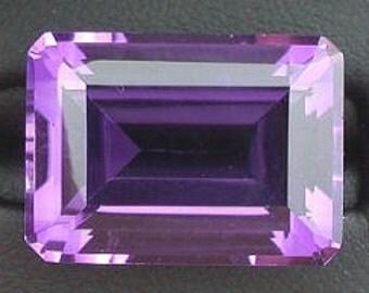 18x13 purple amethyst color emerald cut quartz gemstone