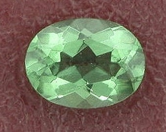 8x6 oval green quartz gem stone gemstone 8mm x 6mm