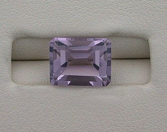 9 x 7 emerald cut amethyst gem stone gemstone 9mm x 7mm