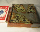 Agate & gray glaze ash tray/Soap dish