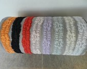 """One Baby Stretchy Lace 1"""" Headband- Choice of color. Size newborn-18months"""