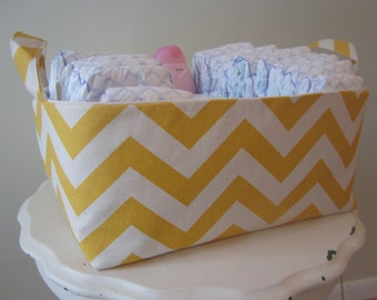 3 Large Fabric Bins - Diaper Caddy - Dorm Organization - Nursery