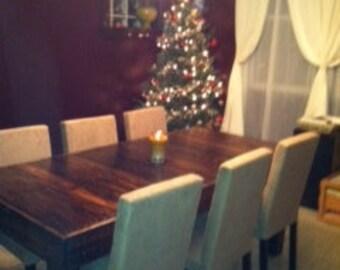 Reclaimed Wood Dining Table, Upcycled, Louisiana (Large)