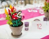 Mario monsterflower // Plant Stake - déco à piquer pour plante