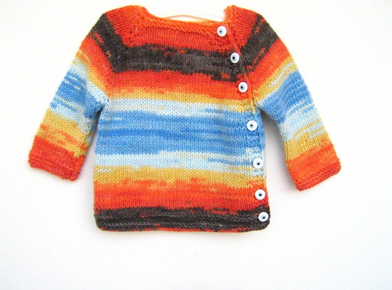 Multi color  wool  baby sweater knitted, knitting, baby gift, unisex, new baby gift.