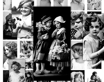 Children Domino Digital Collage Sheet for Scrapbooking Altered Art Victorian Style / DO3