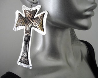 Afrocentric Cross  Earrings