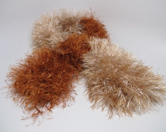 Ginger and copper fluffy scarf
