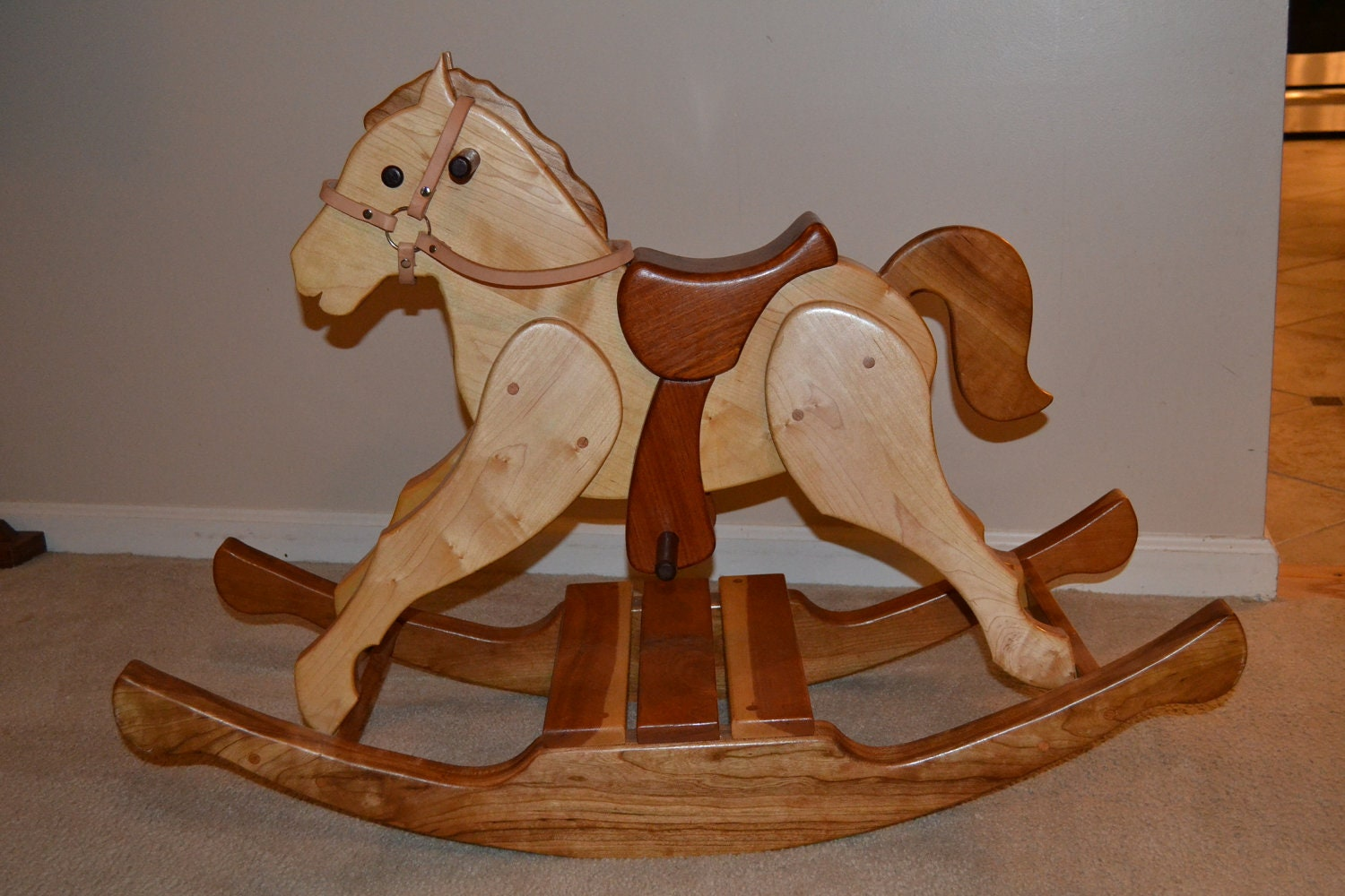 Wooden Rocking Horse ~ Items similar to traditional handmade wooden rocking horse