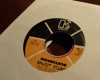 Rhinoceros - When You Say You're Sorry b/w Apricot Brandy - Elektra EK-45647 - Vinyl 45 Record