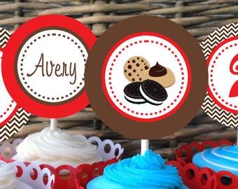 Milk & Cookies Pritable Party Circles
