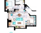 Jerry Seinfeld's Apartment Floorplan from SEINFELD