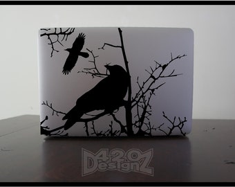 Crow  - Macbook Air, Macbook Pro,  Macbook decals, sticker ,Vinyl Mac decals ,Apple Mac Decal, Laptop, iPad