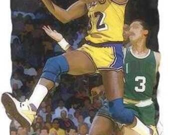 New Irvin Magic Johnson NBA Los Angeles Lakers Art Prt