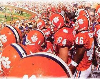 Great Clemson Tigers Rare Team Art Lithograph only 50