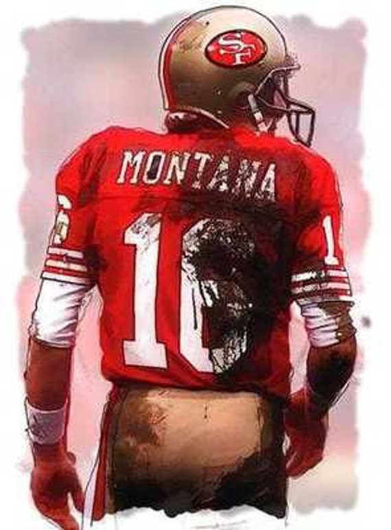 new joe montana san francisco 49ers mvp art print