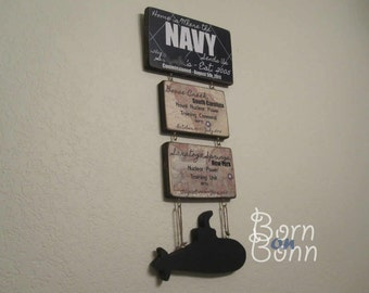 "Navy Sign ""Home is Where the NAVY Sends Us"" Duty Stations - BornOnBonn"