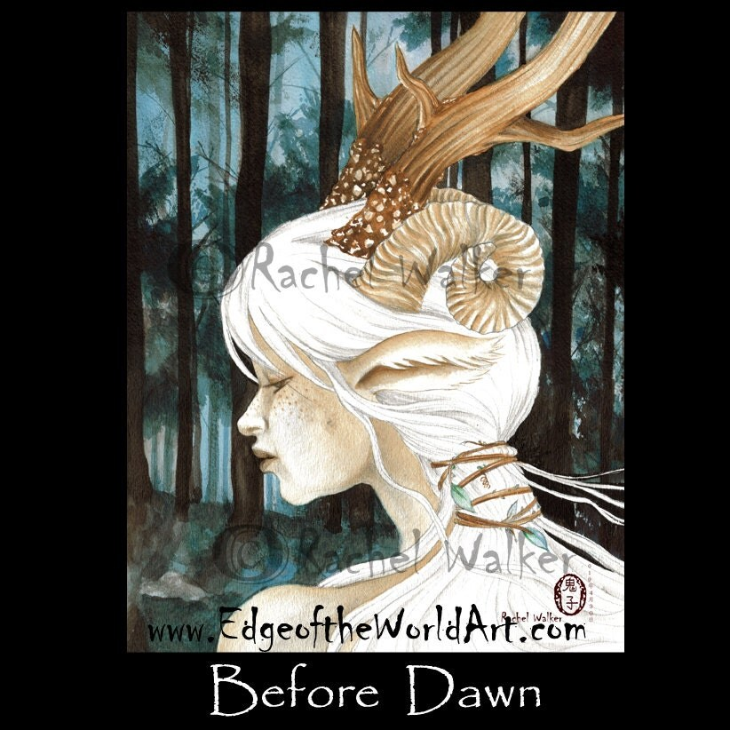 Before Dawn Forest Spirit Fae Fairy Beautiful By