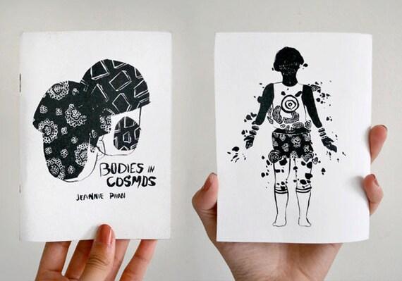 LAST COPIES - Bodies in Cosmos - Black and White Vellum Zine