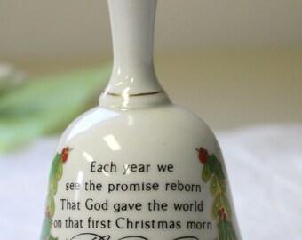 1977 Helen Steiner Rice First Christmas Morning Porcelain Bell