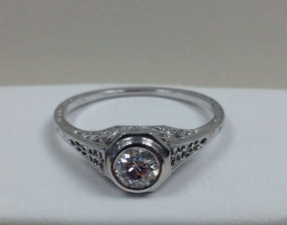 items similar to vintage solitaire engagement ring on etsy