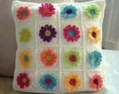 Daisy Chain Pillow Crochet Pattern - Colourinasimplelife