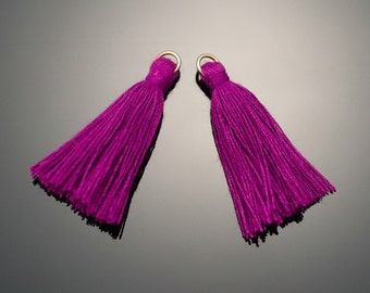 4002091 / Purple / Mini Thread Tassel 6mm x 37mm / 0.5g / 150strands / 2pcs