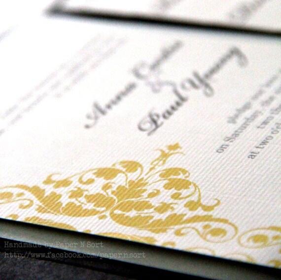 Items Similar To Modern Handmade Wedding Invitation
