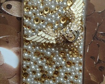 Juicy couture faux pearl iPhone 4 4s case