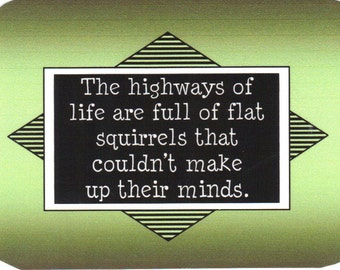 201 - The highways of life are full of flat squirrels that couldn't make up their mind.
