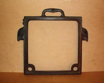 Antique 1930s oil press filter frame