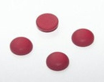 4 pcs. of Polaris Cabochons 12mm. red