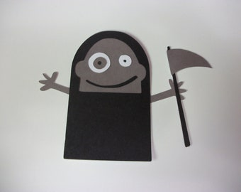 Cricut Mini Monsters Grim Reaper Die Cut Quickutz Paper Piecing Scrapbooking