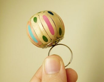 Pencil Jewelry - Colorful ball ring