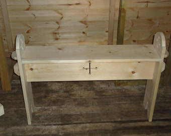 Tudor design flatpack reenactment bench two seater.