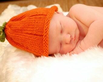 Newborn Pumpkin Baby Hat