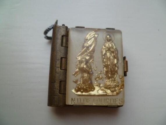French Miniature Lourdes souvenir Charm Postcard Album.