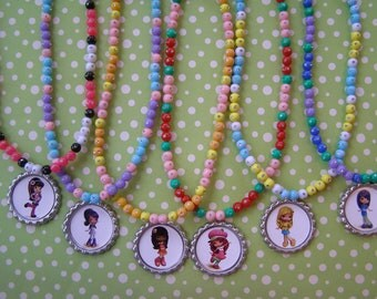 Strawberry Shortcake Party Favor Stretch Necklaces Set of 6