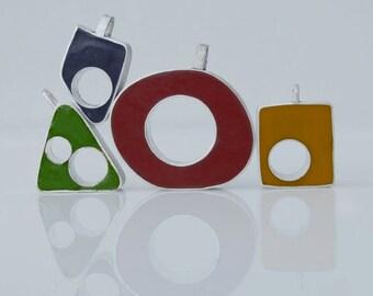 Silver & Epoxy Resin Pendants