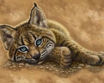 Iberian Lynx Painting-Print