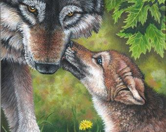 Wolf Painting-Print
