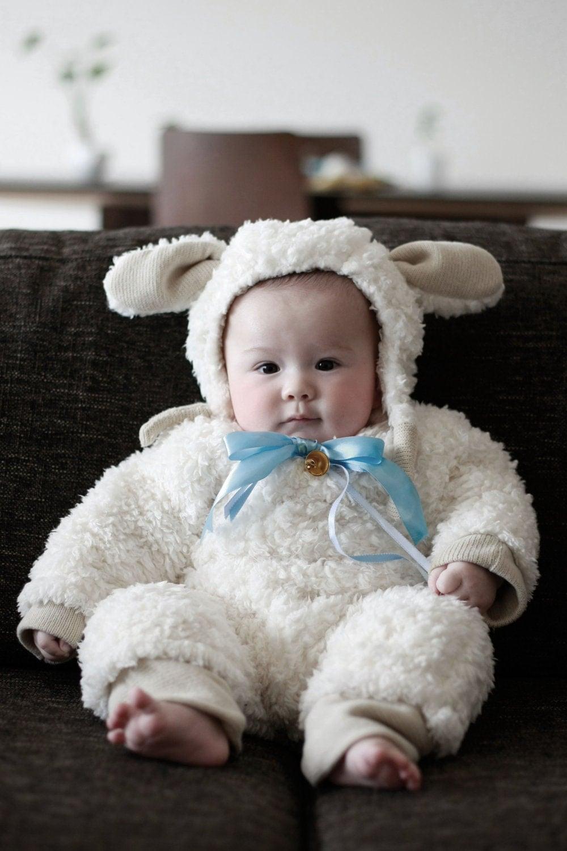 Handmade Baby Lamb Costume Halloween